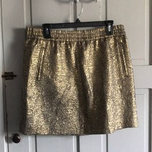 Gold foil skirt from LOFT- size L
